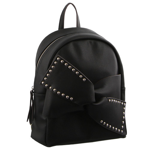 Milleni Bow detail Backpack in Black (PV2716)