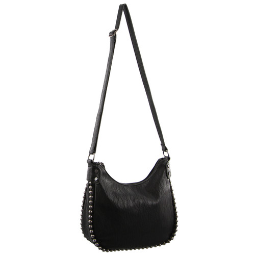 Milleni Cross-Body Handbag with ball detail in Black (NC2705)