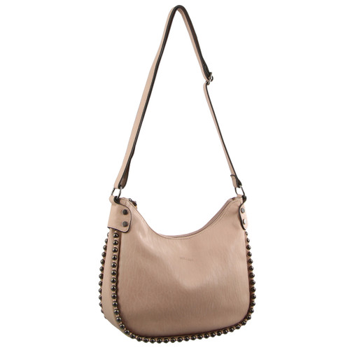 Milleni Cross-Body Handbag with ball detail in Blush (NC2705)