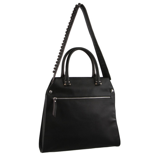 Milleni Cross-Body handbag with guitar strap in Black (PV2714)