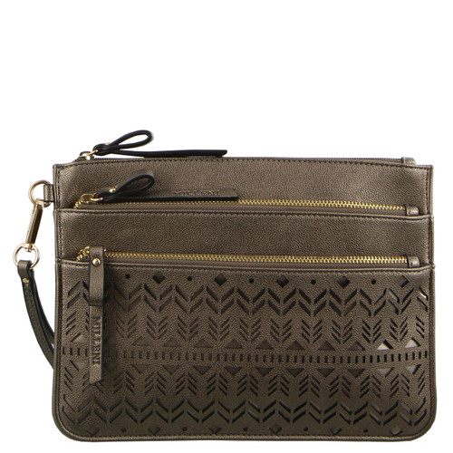 Milleni Wallet/Clutch cut out design in Pewter (NC2675)