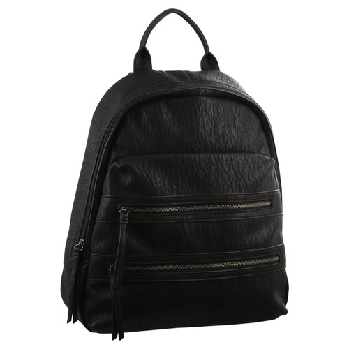 Milleni Backpack with twin front zip pocket in Black (NC2709)
