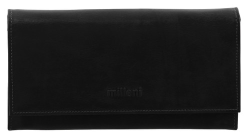 Milleni Ladies Bi Fold Wallet in Black (C2886)