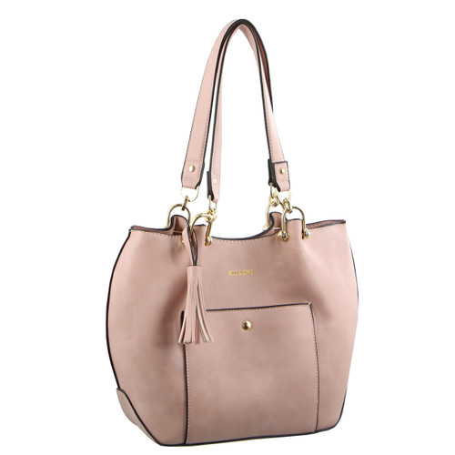 Milleni Fashion Tote Handbag in Blush (NC2919)