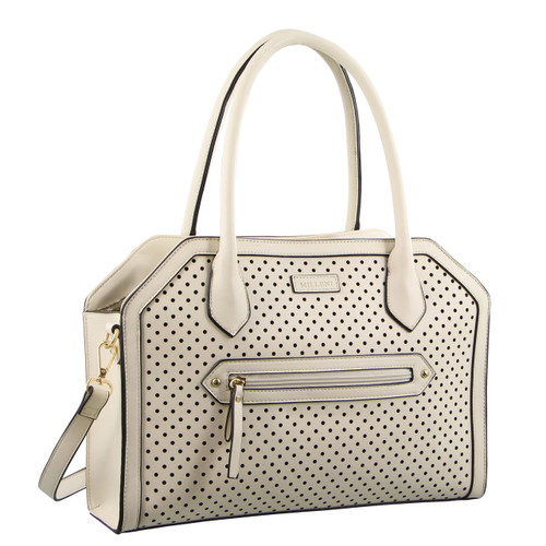 Milleni Fashion Tote/ Cross-Body Handbag in Beige (PV2928)