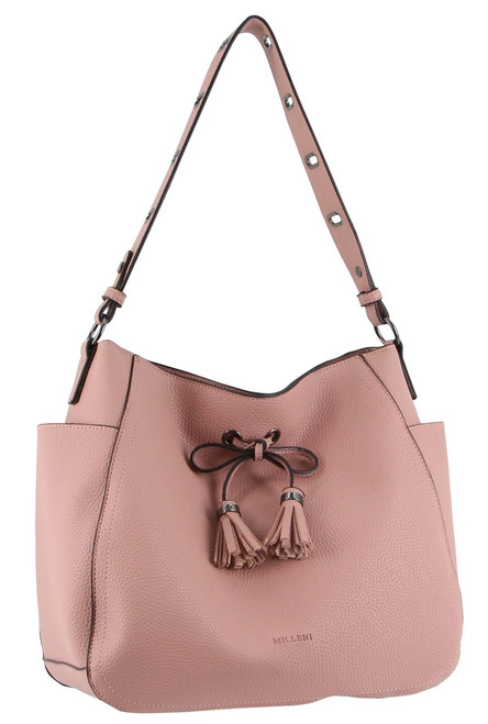 Milleni Fashion Tote Handbag in Blush (PV2989)