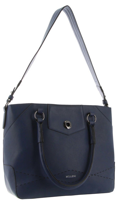 Milleni Tote handbag with guitar strap in Navy (PV2988)