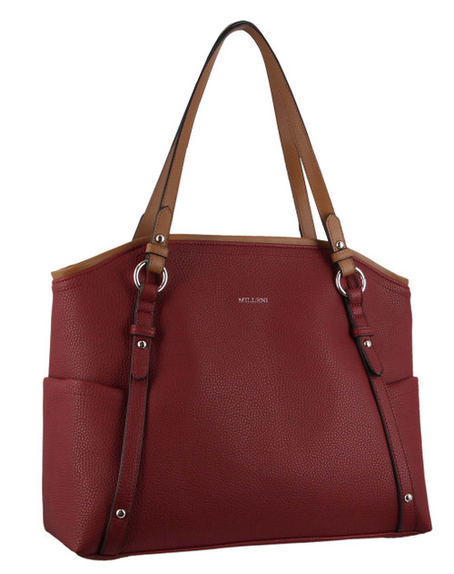 Milleni Tote handbag with shoulder strap in Wine (NC2976)