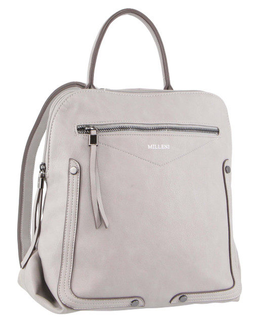 Milleni Fashion Backpack in Grey (NC3090)