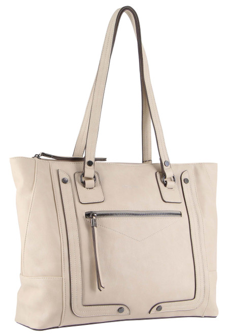 Milleni Fashion Tote Handbag in Beige (NC3092)