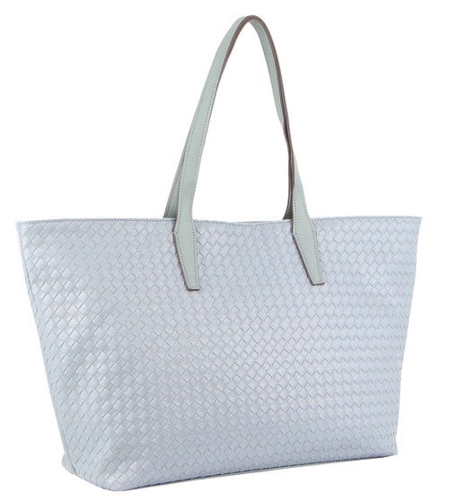 Milleni Fashion Tote Woven Handbag in Teal (NC3108)