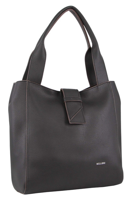 Milleni Fashion Tote Handbag in Black (PV3093)