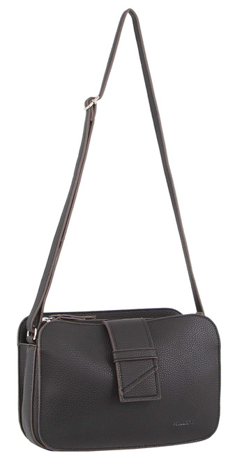 Milleni Ladies Cross Body Handbag/Clutch in Black (PV3094)