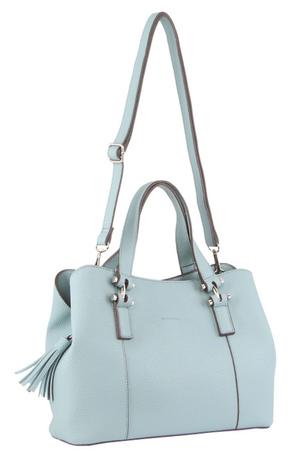 Milleni Fashion Tote/ Cross-Body Handbag in Teal (PV3100)
