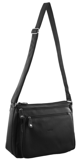 Milleni Nappa Leather Cross-Body Bag in Black (NL9426)