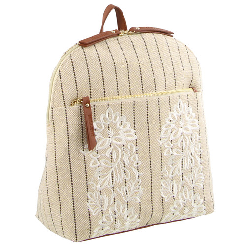 Milleni Ladies Textured Fashion Backpack (FB2590)