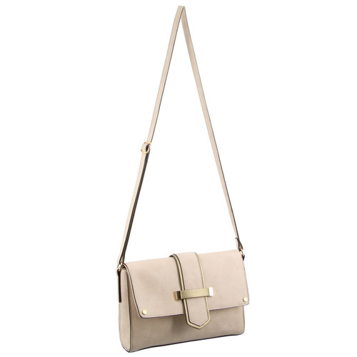 Milleni Ladies Cross-Body Bag in Beige (NC2533)