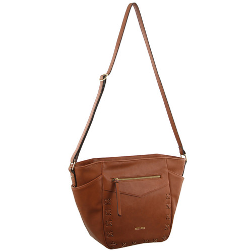 Milleni Ladies Cross-Body Bag in Tan (NC2560)