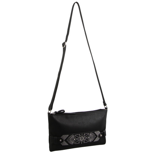 Milleni Ladies Cross-Body Handbag in Black (NC2588)