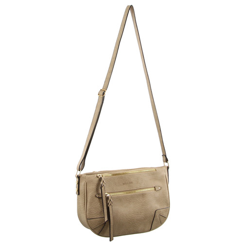 Milleni Fashion Cross-Body Handbag in Taupe (PV2399)