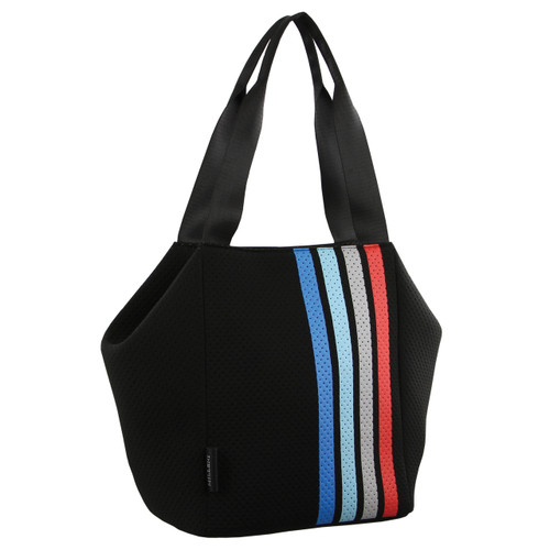Milleni Neoprene Tote Handbag in Black (NP2780)