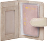 Milleni Leather Credit Card Holder in Beige (C 10576) - Open