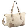 Milleni Ladies Tote Floral Handbag in Taupe (FB2585)