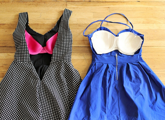 backless dress bra upcycling