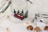 DIY with cars: a small winter landscape in a jar