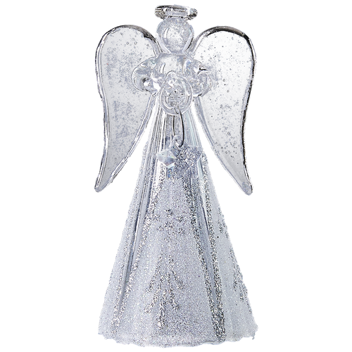 Modern glass angel handmade Christmas ornament