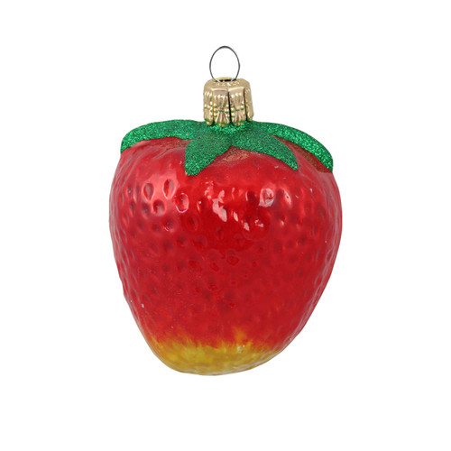 Hand crafted Christmas ornament Strawberry
