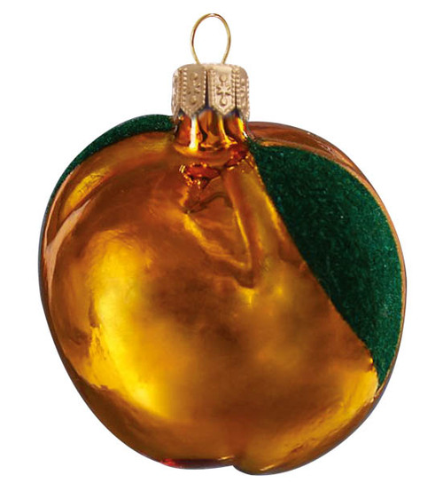 Hand crafted Christmas ornament Yellow apple