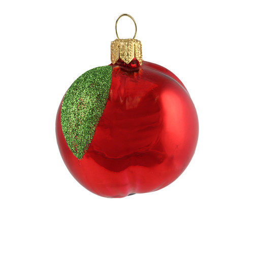 Handcrafted Christmas ornament Red Apple