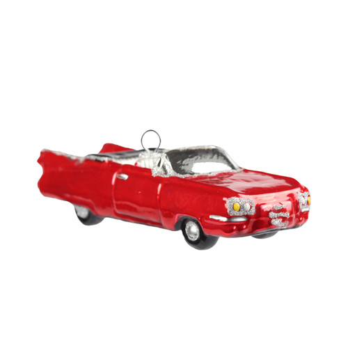 Hand crafted Christmas ornament Red convertible