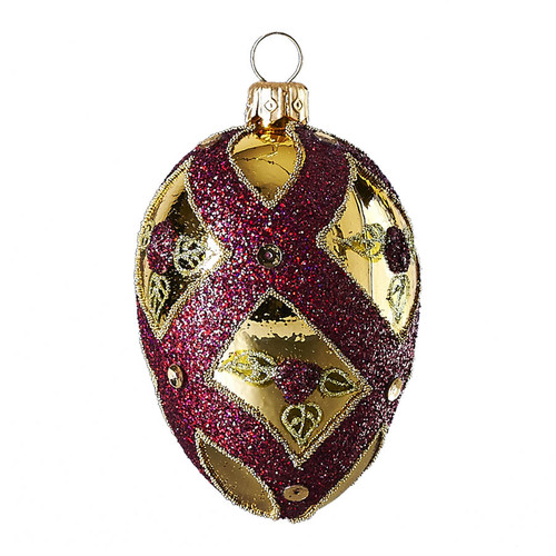 Hand crafted Christmas/Easter ornament Cream oval with rose buds