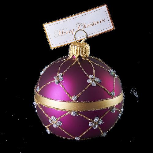Purple adorned cardholder small size.
