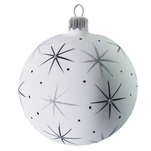 Hand crafted Christmas ornament White sky and star ball