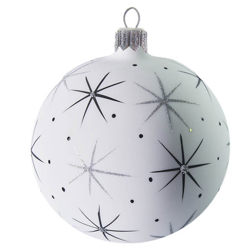 Large Handcrafted Christmas ornament White sky and star ball