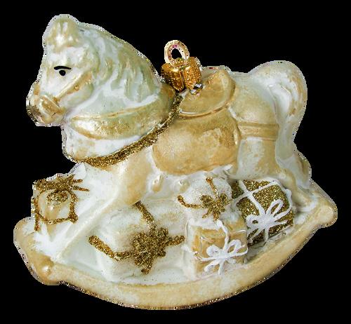 White rocking-horse