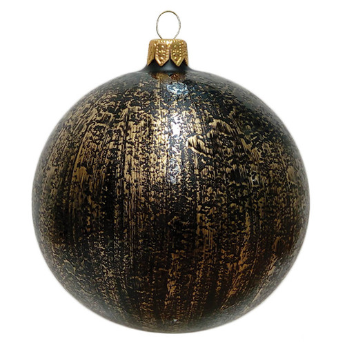 Black Christmas Ball with Gold Décor