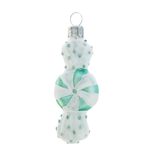 Green Candy Christmas Decoration handcrafted by Czech artisans by GLASSOR.