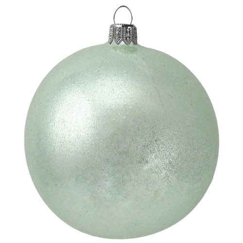 Handcrafted Glass Christmas Green Bauble Ornament by GLASSOR.