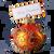Hand crafted Christmas ornament Jeweled orange cardholder - large