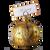Jeweled golden cardholder