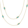 Long Leaf Blue Topaz Necklace