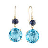 Blue Topaz Double Drop Signature Earrings