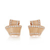 Knot Diamond Trim Stud Earrings in Rose Gold