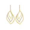 Athena Pave Diamond Drop Leaf Trio Earrings