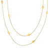 Long Leaf Gold Necklace
