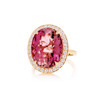 Pink Tourmaline And Diamond Pave After Dark Ring